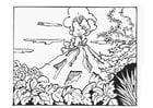 Dibujo para colorear Volcán