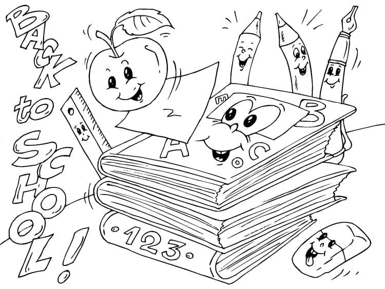 Dibujo para colorear volver al colegio - Img 22690