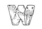 Dibujo para colorear w-walrus