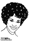 Dibujo para colorear Whitney Houston
