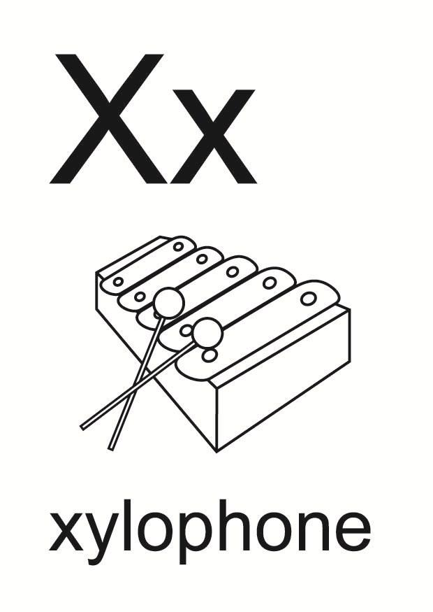 Dibujo para colorear x - Dibujos Para Imprimir Gratis ...