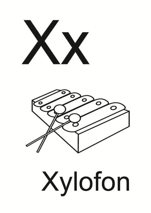 Dibujo para colorear x - Dibujos Para Imprimir Gratis