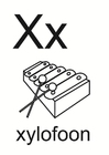 Dibujo para colorear x