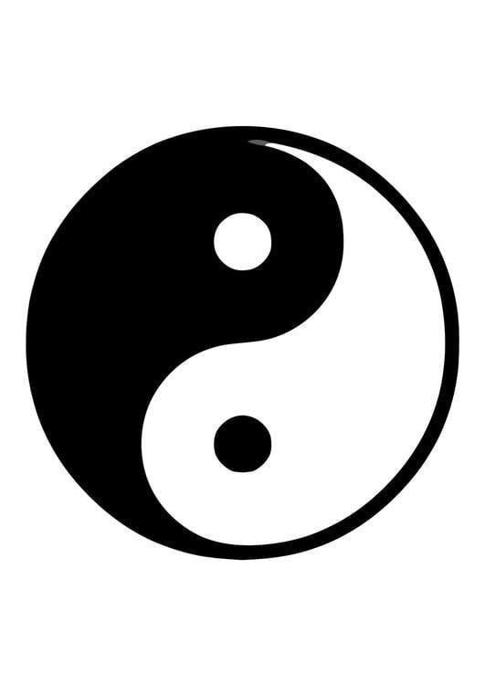 dibujo para colorear yin y yang img 11371. Black Bedroom Furniture Sets. Home Design Ideas