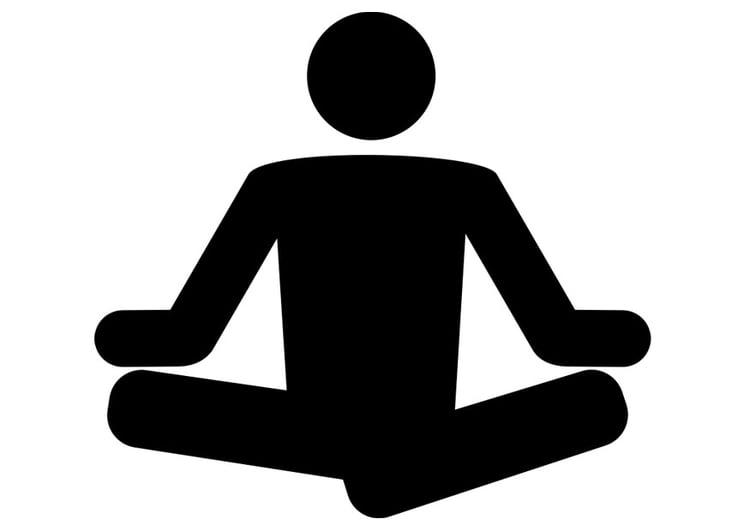 Dibujo para colorear yoga - Img 26413