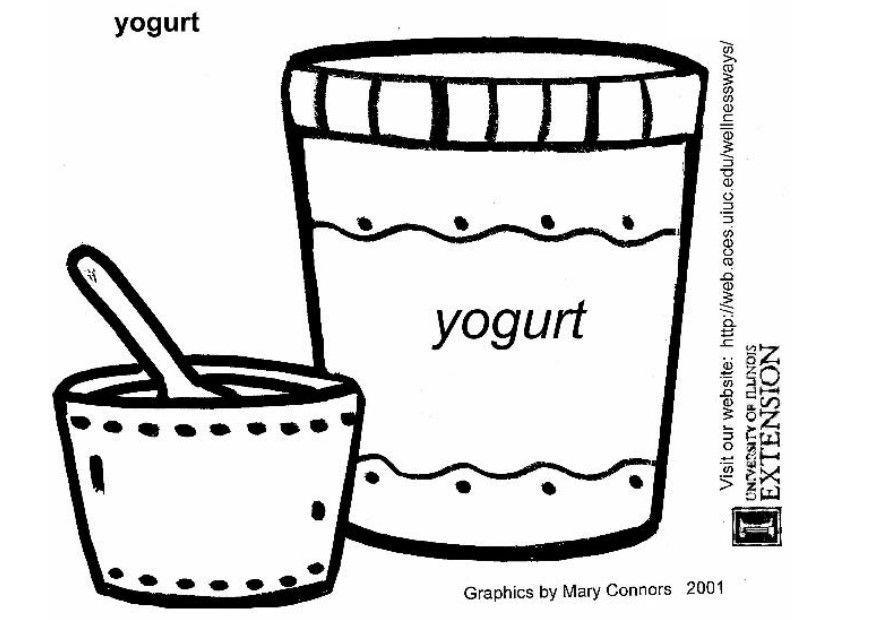 Dibujo De Yogur Infantil Para Colorear