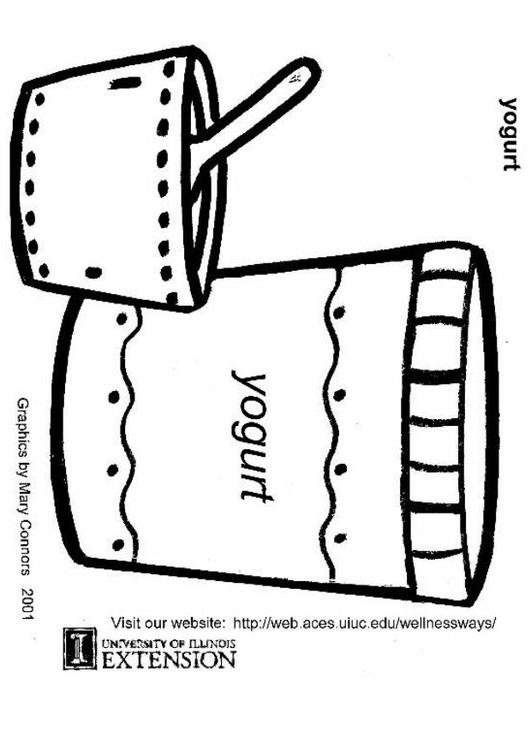 Dibujo Para Colorear Yogur Dibujos Para Imprimir Gratis