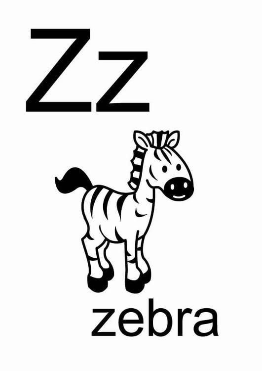 Dibujo para colorear z - Img 23694