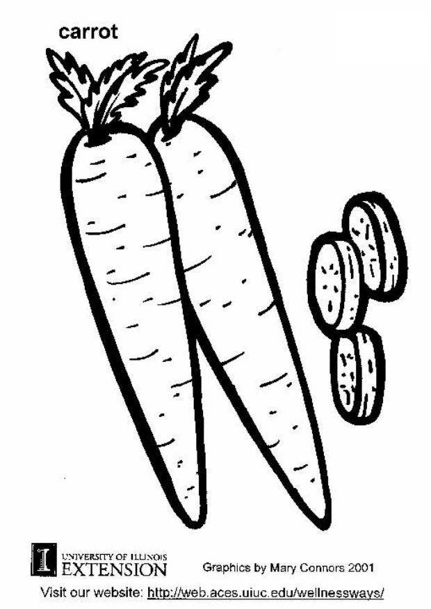 Dibujo Para Colorear Zanahoria Img 5790
