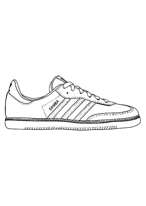 Dibujo para colorear zapatilla deportiva - Img 29484
