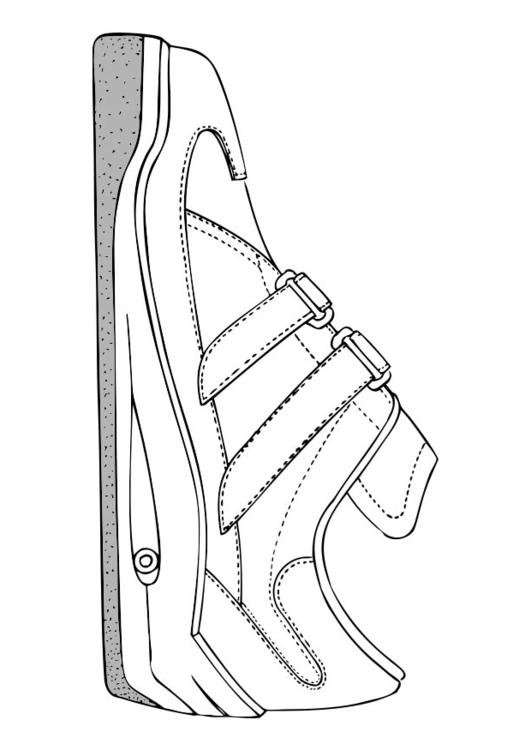 Dibujo para colorear zapatilla deportiva - Img 17383