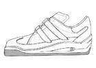 Dibujo para colorear zapatilla deportiva