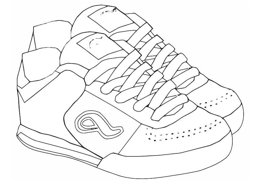 Dibujo para colorear zapatillas de deporte - Img 19438