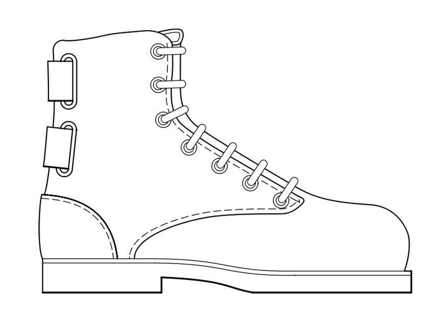 Dibujo Para Colorear Zapato Img 18951