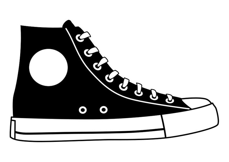 Dibujo para colorear zapato - Img 27155
