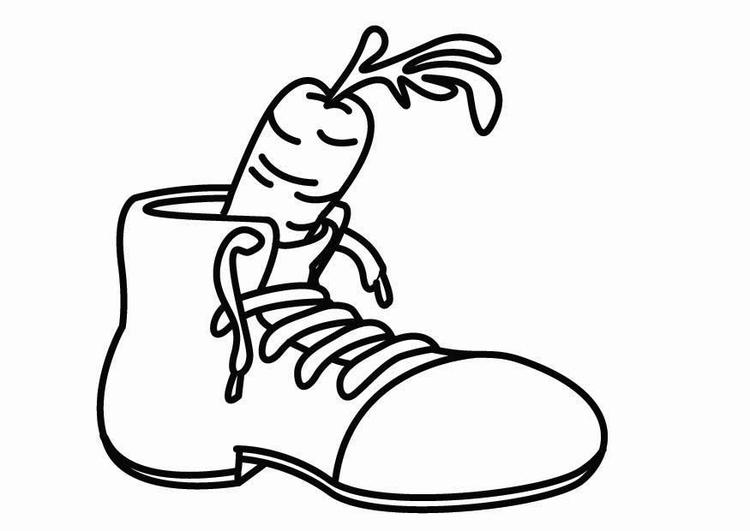 Dibujos De San Antonio Para Colorear: Dibujo Para Colorear Zapato Para San Nicolás