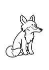 Dibujo para colorear zorro
