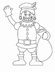 Dibujo para colorear Zwarte Piet (1)