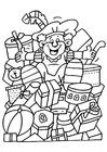 Dibujo para colorear Zwarte Piet