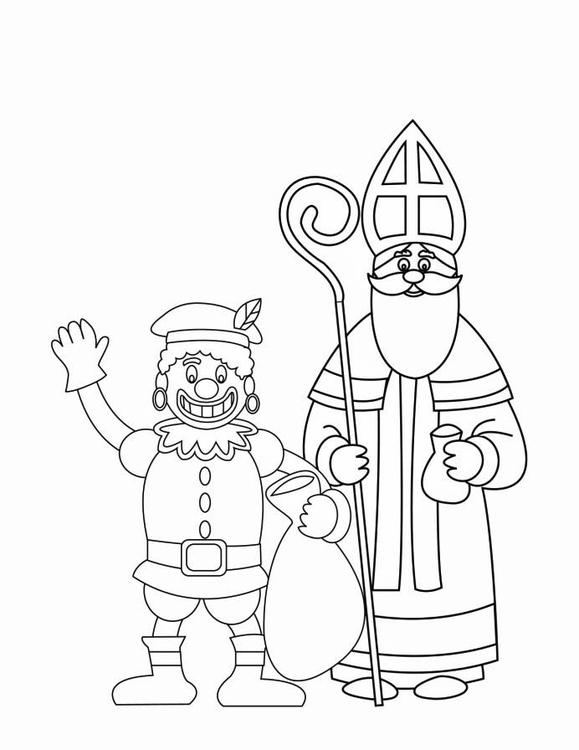 Sinterklaas Kleurplaten Club Van Sinterklaas Dibujo Para Colorear Zwarte Piet Y San Nicol 225 S 2 Img 16170