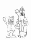 Dibujo para colorear Zwarte Piet y San Nicolás (2)