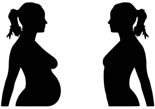 Dibujo para colorear embarazo