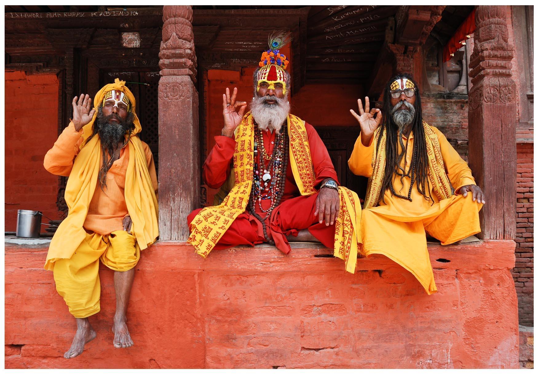 Foto 3 Sadhus (hombres sagrados hindúes) en Nepal