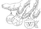 Dibujo para colorear bolas de Navidad