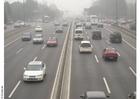 Foto Carretera con polución, Pekín