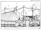 Dibujo para colorear Circo