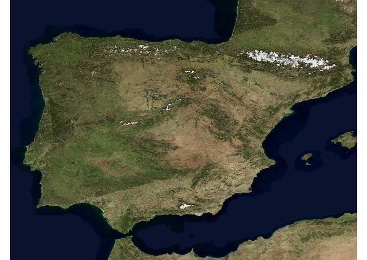 Mapa Satelital De España.Fotografia Foto De Satelite De Espana Fotos Para Imprimir