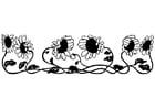 Dibujo para colorear girasoles