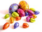 Foto huevos de chocolate