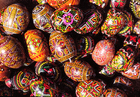 Foto huevos de pascua pintados