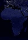 Foto La tierra por la noche, áreas más urbanizadas de África