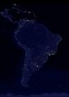 Foto La tierra por la noche, áreas más urbanizadas de América del Sur