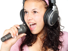 Foto micrófono y auriculares