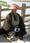 Foto Monje budista japonés