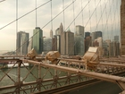 Foto New York - Brooklyn Bridge and Manhattan