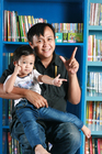 Foto padre con niño