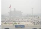 Foto Plaza de tiananmen con polución