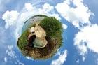 Foto Tierra - efecto panorámico