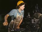 Foto trabajadora de fábrica - 1942