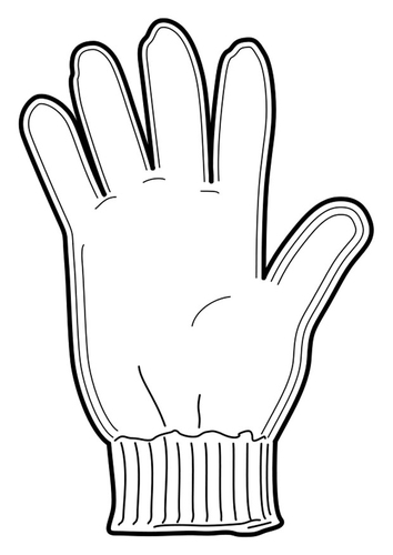 Dibujo para colorear guante