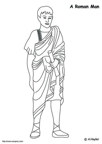 Dibujo para colorear Hombre romano