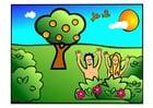 Imagen Adán y Eva - felices