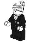 Dibujo para colorear agente de policía