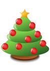 Imagen árbol de navidad con bolas de navidad