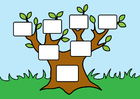 Imagen árbol genealógico vacío