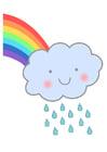 Imagen arcoiris con lluvia